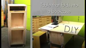 A Bookcase How To Make A Table That Folds Into A Bookcase Plywood Project