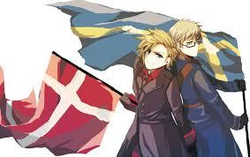 Sweden Flag Image Holding Flag Zerochan Anime Image Board