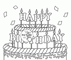 coloring page birthday color page cake 03 coloring birthday
