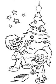 tree christmas coloring christmas tree coloring pages for kids