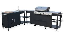 evier cuisine exterieure cuisine d extérieure d été barbecue au gaz 5 brûleurs