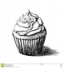 Cherry Cupcake Invitation Card Royalty Sketch Cupcake Vector Illustration Stock Vector Image 82069109