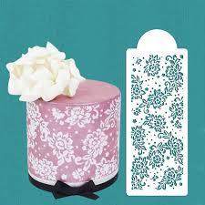 Peony Lace Cake Stencil Cake Side Stencil Cookie stencil Cake