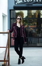 jacket moto the most perfect burgundy moto jacket u0026 black booties clothes
