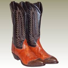 vintage cowboy boot l vintage tony lama cowboy boots in burnt sienna and brown patricia