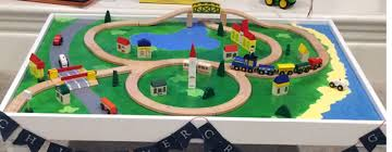 Thomas The Train Play Table Do It Yourself Wooden Train Table U2026 In Less Than 24 Hours Fox
