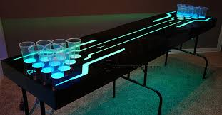 July Facebook Giveaway Custom LED Lighted Beer Pong Table - Beer pong table designs