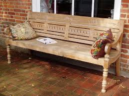 demand rises for reclaimed wooden benches chic teak