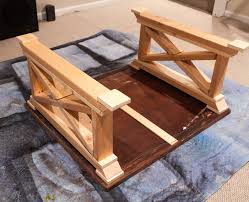 How To Build An End Table First Build The Two Side Trim Pieces How To Build An End Table