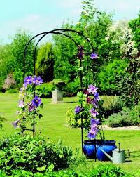 details about metal garden arch rose pergola decorative climbing