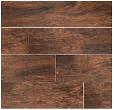 ms international mahogany 6x36 wood scraped plank porcelain tile