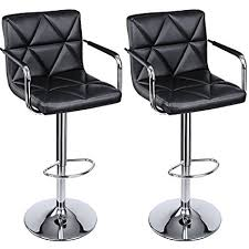 white bar stools with backs and arms amazon com songmics adjustable bar stools with arms and back