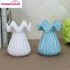 Artificial Flowers In Vase Wholesale 16cm Modern Creative Porcelain Vase Artificial Flower Vase