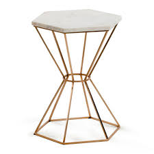 Marble Side Table Limit Small Side Table In Marble And Copper Side Coffee Tables C