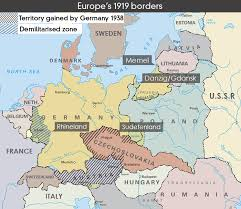 map of germany in europe map of europe s 1919 borders abc news australian broadcasting