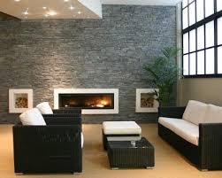 contemporary family room equipped with modern furniture placed