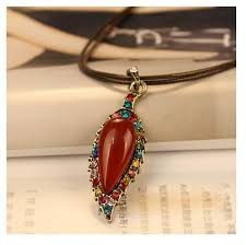 fashion ornaments wholesale retro leather string necklace color