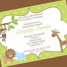 Jungle Theme Invitation Card Jungle Baby Shower Invitations Card Design Jungle Theme Ba Shower