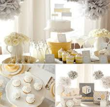 white and gold baby shower 41 gender neutral baby shower décor ideas that excite digsdigs