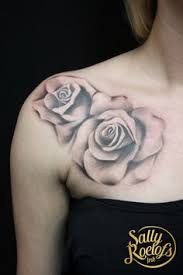 roses on collarbone tattoo sally roelofs ink pinterest