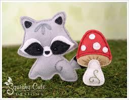 raccoon sewing pattern baby raccoon stuffed animal pattern