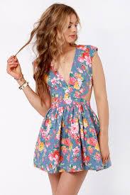 cute floral print dress cutout dress eighties dress 46 00
