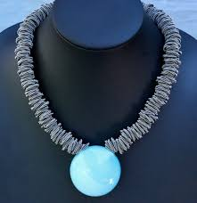 silver wire necklace images Jewelry vcexclusives maratea light blue with silver wire the jpg