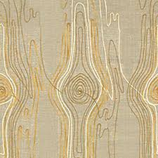 groundworks faux bois ochre cream decor upholstery fabric