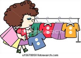 buy clipart buying clothes clipart