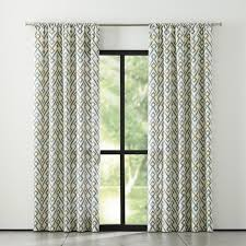 Grey And Green Curtains Maddox Khaki Grey Curtains Crate And Barrel