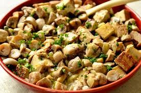 cuisine et santé tofu fumé et chignons sauce moutarde ma cuisine santé