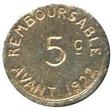 chambre du commerce bayonne 5 centimes bayonne notgeld numista
