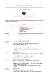 Undergraduate Resume Example by Undergraduate Research Assistant Cv örneği Visualcv özgeçmiş