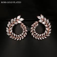 zirconia earrings style european fashion cubic zirconia earrings gold