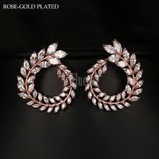 cubic zirconia earrings style european fashion cubic zirconia earrings gold