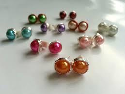 make stud earrings diy bead stud earrings 4 steps with pictures