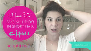 cibu faux do how to fake an up do in short hair youtube