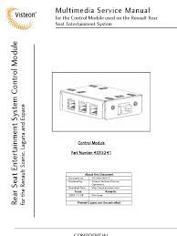 renault multimedia control module4 service manual manufactured