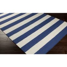 Cottage Rug Blue Area Rugs Woven Cotton Jute U0026 Synthetic Pvc