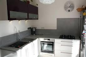 beton cire pour credence cuisine credence plan de travail cuisine idées design beton cire pour