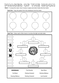 phases of the moon lesson with worksheets by rcmcauley teaching
