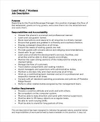 sample hostess job description 7 examples in pdf wordhostess