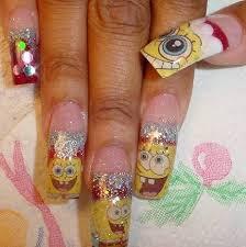 sponge bob christmas nails nail art gallery