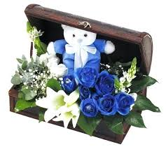 Baby Shower Flower Centerpieces Blue Flower Arrangement U2013 Eatatjacknjills Com