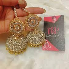 punjabi jhumka earrings 359 best jewellery images on indian jewelry wedding