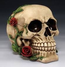 skull decor 5 l skull with roses skeleton decor