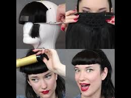 pinup clip in ponytail with bangs how to cut a bettie bang with a clip in the rachel dixon vintage