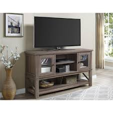 entertainment centers with glass doors ameriwood furniture everett tv stand for tvs up to 70