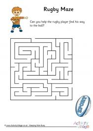 free printable lego maze rugby maze easy pre school age 5 6yrs pinterest rugby pre