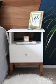easy mid century ikea tarva nightstand hack mid century modern